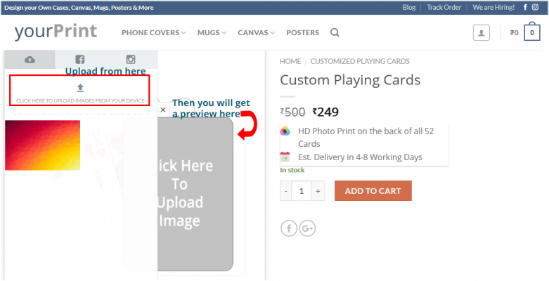 can you print your po on all 52 playing cards in a card deck ...