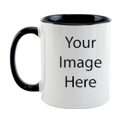 Customized Dual Tone Black Mugs