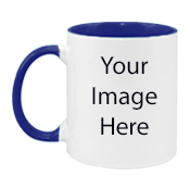 Customized Dual Tone Blue Mugs
