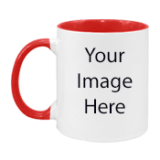 Customized Dual Tone Red Mugs