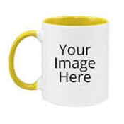 Customized Dual Tone Yellow Mugs
