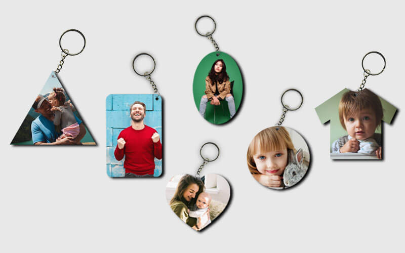 Buy Customized Printed Keychains with Name & Photo Online