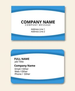 Rectangle Visiting Cards